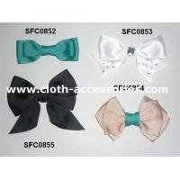 Bowknot Green Fabric Flower Corsage Prom Gross Grain For Teenage Hair Bows
