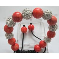 Fashion Female Elegant Shamballa Crystal Beads Bracelets with Semi-precious Stones