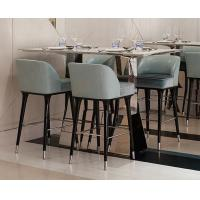 Hotel Restaurant Mid Century Modern Bar Chairs / Upholstered Counter Height Bar Stools