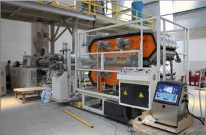 China PVC Powder Plastic Sheet Extrusion Line , Glazed Roof Tile Extruder Making Machine on sale