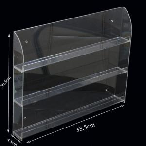 China Clear 3- Shelve Wall-Mounted Acrylic Nail Polish Display Rack Organizer on sale