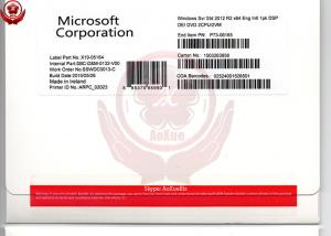 China Microsoft  2012 Windows Server Standard R2 OEM Pack 64 Eng Intl 1Pk DSP OEI DVD on sale