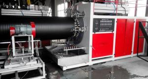 China Single Screw PE Pipe Production Line HDPE Spiral Winding Tube Making Machine on sale