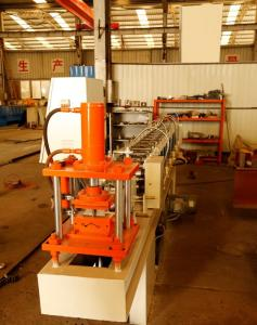 China 75mm Roller Shutter Door Roll Forming Machine With Punched Hole Or Punched Slot on sale