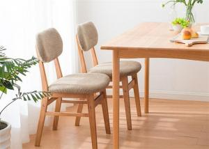China Home Contemporary  Fabric Solid Wood Dining Chairs Natural Wood Color Eco -  Friendly on sale