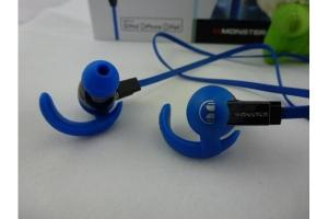 China Control talk Monster beats isport in ear earphones by dr.dre headphones in blue on sale