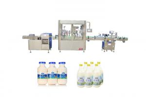 China Screw Capping Automatic Water Filling Machine For Bottle Syrup Filling 20-70 bottles/min on sale