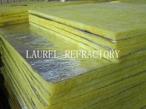 Quality Glass Wool Blanket Refractory Insulation Materials / Fiberglass Wool Roll for sale