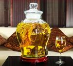 25L Beer Glass Storage Jars With Faucet Lid Large Size For Waxberry Wine