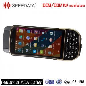 China Mobile Handheld UHF RFID Reader , Computer Rugged Portable Rfid Reader Phone 1M Range on sale