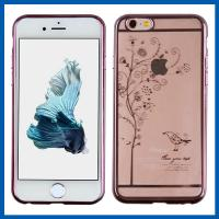 Plating Apple Iphone 6 Protective Cases Anti Scratch Clear Crystal
