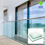 8mm 10mm 12mm Balstrade Glass Shower Glass , Tempered Glass For Doors And Windows