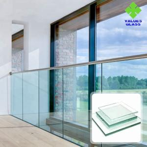 China 8mm 10mm 12mm Balstrade Glass Shower Glass , Tempered Glass For Doors And Windows on sale