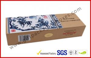China Blue and White Craft Paper Printing Cigarette Packaging Boxes Homemade High End on sale