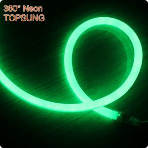 China 220V mini 16mm 360 degree led neon light SMD2835 green supplier