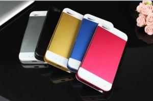 China Rechargeable 3500mAh External Backup Battery Case Mobile Power Bank Charger for iphone 5S on sale