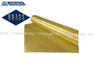 China Civen Hot Rolled Craft metal brass sheets No Pin Hole With Bright Color on sale