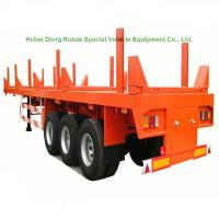 China Timber Lumber Transport Semi Trailer Long Wood Transport Log Trailer, 3 Axle Log Trailer 60ton  on sale