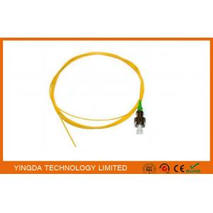 China Pigtail OS1 FC APC Simplex SM 0.9mm 3Meter Fiber Optic Cable Yellow on sale