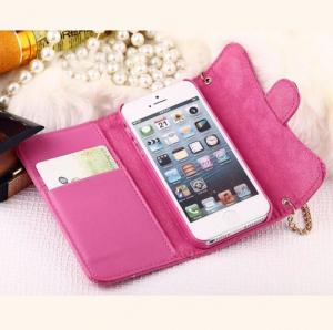 China 2015 wholesale foldable flip handbag style  leather case cover for iphone 6 with stents and card slot holder on sale