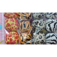 China Zoo Party - Vinyl Animal Print Kick Ball Hacky Sack 5cm dia 144pcs on sale