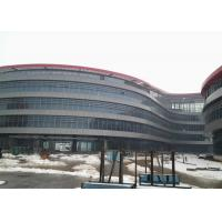 China Lightweight Metal Framing , Glass Curtain Wall Steel Structure High Rise Building on sale
