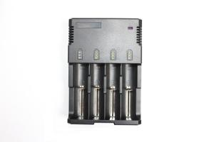 China 50Hz / 60Hz 2000mA 4 Bay Battery Charger 12V For AA AAA Rechargable Batteries on sale