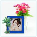 China Shinny Gifts Metal handmade cocoanut trees photo frame for home decoration wholesale