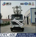 China 600m DFC-600 truck mounted hydraulic rotary water well drilling rig machine wholesale