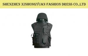 China Security Guard NIJ - IIIA PE Black Bulletproof Vest Costume Military Body Armor on sale