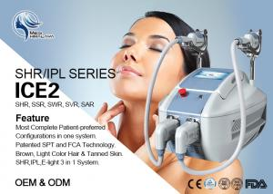 China Skin Rejuvenation / Wrinkles Removal Ipl Laser Machine 2 In 1 650nm - 950nm on sale