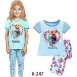 Los pijamas congelados muchacha azul del verano fijaron x-247