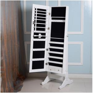 China E1 MDF Mirror Jewelry Armoire on sale