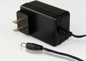 Quality Black AC To DC 15W / 24W Power Adapter With UK Plug Low Ripple / Noise for sale