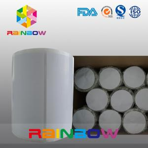 China No Print White / Blank Paper Roll Plain Rectangle Shrink Sleeve Labels Custom Size on sale