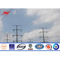 69 kv 75 FT Galvanized Steel Transmission Poles Electrical Power Pole 1mm - 30mm
