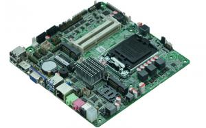 China DC 12V -19V Intel ATOM Motherboard 1 * RJ - 45 LAN , 1 * LVDS All in One Motherboard on sale