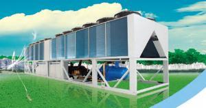 China O ar do controle centralizado 299.5kw refrigerou o refrigerador do parafuso para o sistema da ATAC on sale