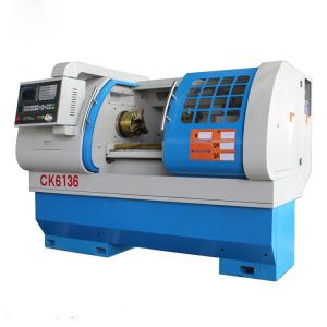 China CK6136 CNC Lathe Machine / Lathe Bar Feeder Automatic Feeding With Hydraulic Chuck on sale