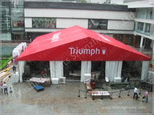 China 20X20M Red Fabric Cover Outside Event Tent For Exhibition , Outdoor Trade Show Tent Displays on sale