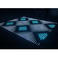 Digital LED Dance Floor 400Hz Refresh Rate Tempered Glass Cover Material