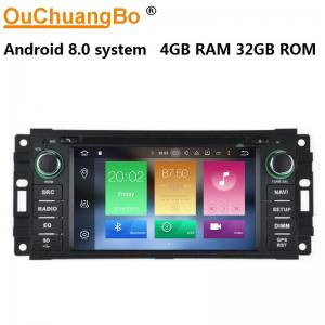 China Ouchuangbo car radio multi media android 8.0 for Chrysler Gran Voyager del 2010 with mirror linksteering wheel control on sale