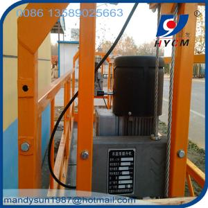 China 630kg ZLP630 man mini cargo lift aerial work platform for construction and decoration on sale