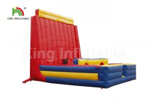 China Commercial Outdoor Inflatable Sports Games / Bouncer Rock Climbing Wall on sale
