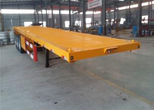 China 4 Axles 40feet flatbed trailer container trailer chassis high bed semi trailer with tubeless or radial tyre on sale