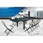 折り畳み式の椅子8 Seaterが付いているセットを食事する外の庭のテラスの家具