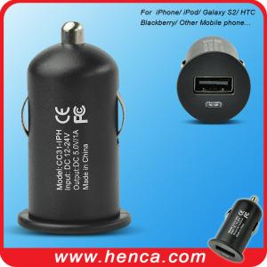 China mini USB Car charger for Samsung /iPad /iPhone /iPod /Blackberry /HTC /Sony--- on sale