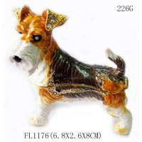China wholesales metal dog shaped cheap antique jewelry box for promotional gift on sale