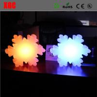 Factory Wholesales 16 Color Changing Indoor Snowflake Shape Table Decoration Led Wireless Night Light