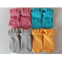 Cotton and Polyester Materials Unisex Foot Alignment Socks, Comfy Toe Socks